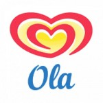 Ola Ice Cream before 2003 Logo Font