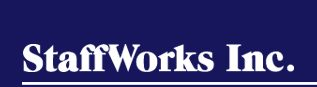 StaffWorks Inc. Logo Font