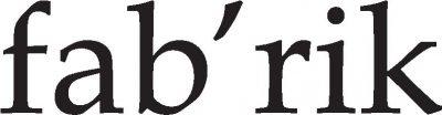 fab`rik Logo Font